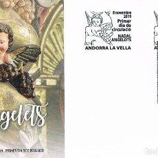 Sellos: ANDORRA, NAVIDAD 2019, ANGELES, SOBRE DE PRIMER DIA DE 8-11-2019. Lote 253107240