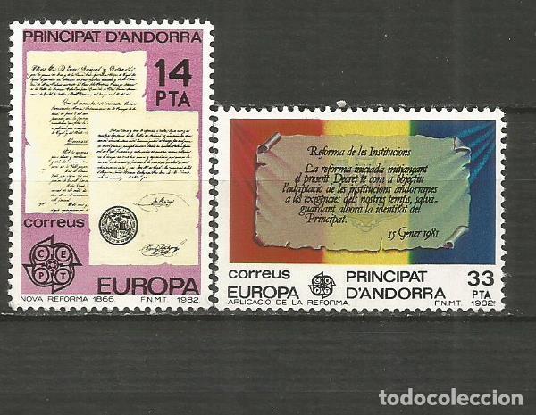 ANDORRA EDIFIL NUM. 157/158 ** SERIE COMPLETA SIN FIJASELLOS (Sellos - España - Dependencias Postales - Andorra Española)