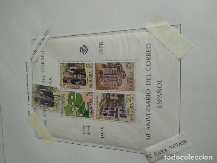 Sellos: LOTE N. 2 DE 8 HOJAS CON SELLOS DE ANDORRA - VER FOTOS - Foto 2 - 194209565