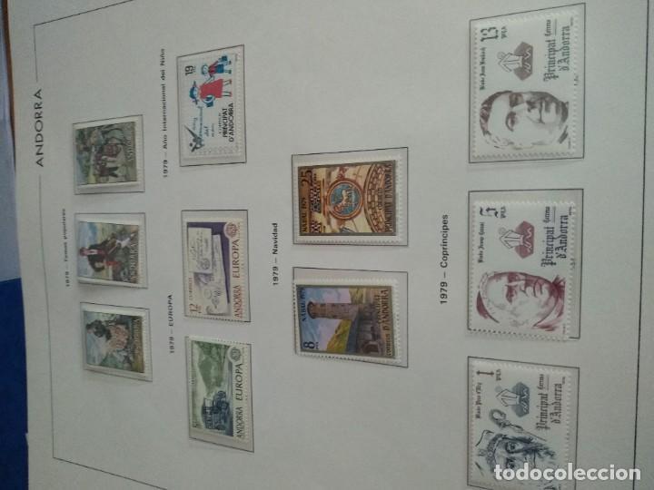 Sellos: LOTE N. 2 DE 8 HOJAS CON SELLOS DE ANDORRA - VER FOTOS - Foto 3 - 194209565