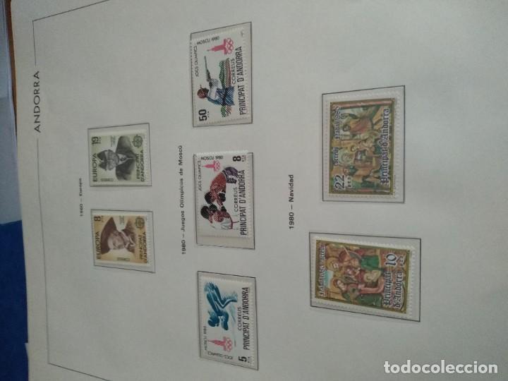 Sellos: LOTE N. 2 DE 8 HOJAS CON SELLOS DE ANDORRA - VER FOTOS - Foto 4 - 194209565