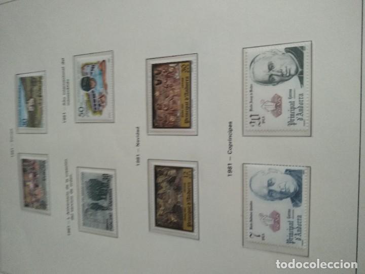 Sellos: LOTE N. 2 DE 8 HOJAS CON SELLOS DE ANDORRA - VER FOTOS - Foto 5 - 194209565