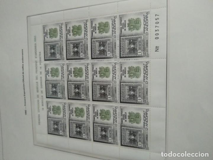 Sellos: LOTE N. 2 DE 8 HOJAS CON SELLOS DE ANDORRA - VER FOTOS - Foto 6 - 194209565
