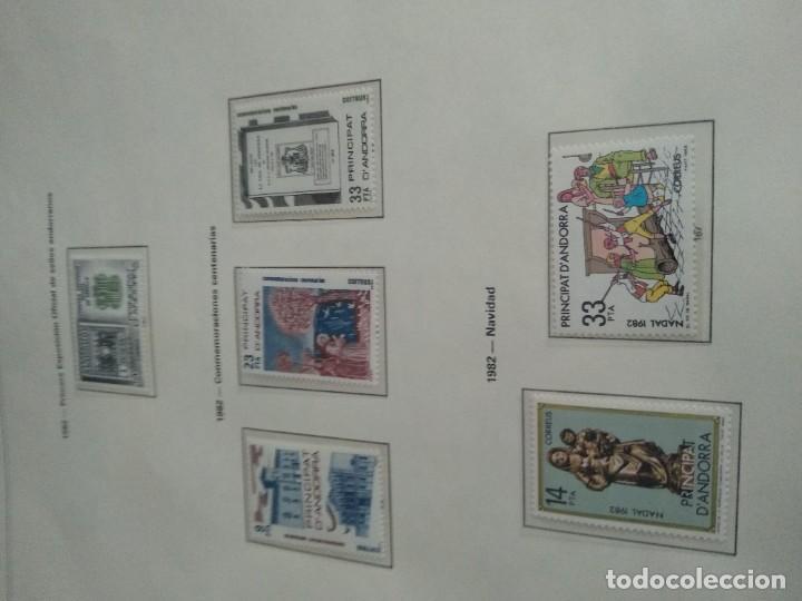 Sellos: LOTE N. 2 DE 8 HOJAS CON SELLOS DE ANDORRA - VER FOTOS - Foto 8 - 194209565