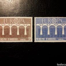 Sellos: ANDORRA ESPAÑOLA. EDIFIL 179/80. SERIE COMPLETA NUEVA SIN CHARNELA. EUROPA CEPT. PUENTES. 1984.. Lote 194979213