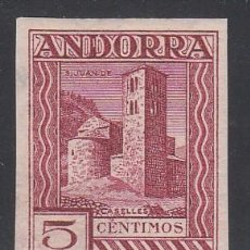 Sellos: ANDORRA ESPAÑOLA, 1935-1943 EDIFIL Nº 29 ECS /**/, ERROR DE COLOR, LILA CARMÍN, SIN DENTAR. . Lote 195302765