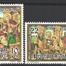 Sellos: ANDORRA ESPAÑOLA. 1980 EDIFIL Nº 138 / 139 /**/, NAVIDAD. Lote 195407037