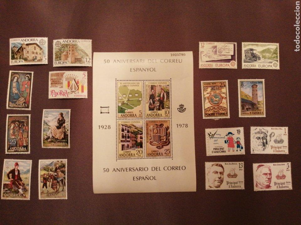 SELLOS NUEVOS ANDORRA ESPAÑOLA AÑIS 1978 Y 1979 (Sellos - España - Dependencias Postales - Andorra Española)