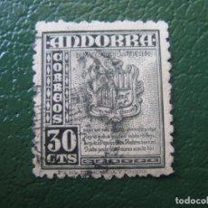 Selos: +ANDORRA 1948, EDIFIL 50. Lote 196785321