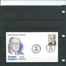 Sellos: SOBRE DE PRIMER DIA DE ANDORRA ESPAÑOLA DEL AÑO 1983 DE PERSONAJES DE ANDORRA . Lote 197411571
