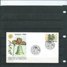 Sellos: SOBRE DE PRIMER DIA DE ANDORRA ESPAÑOLA DEL AÑO 1984 DE LA SERIE DE NAVIDAD 84. Lote 197416921