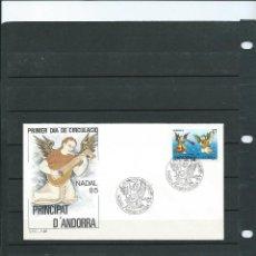 Sellos: SOBRE DE PRIMER DIA DE ANDORRA ESPAÑOLA DEL AÑO 1985 SERIE DE NAVIDAD 85. Lote 197418577