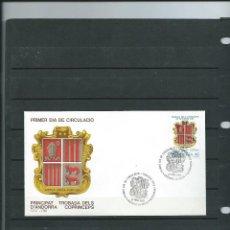 Sellos: SOBRE DE PRIMER DIA DE ANDORRA ESPAÑOLA DEL AÑO 1987 ENCUENTROS ENTRE LOS COPRINCIPES DE ANDORRA . Lote 197420372