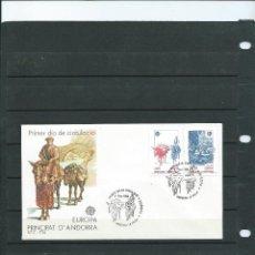 Sellos: SOBRE DE PRIMER DIA DE ANDORRA ESPAÑOLA DEL AÑO 1988 DE LA SERIE DE EUROPA 88 . Lote 197421751