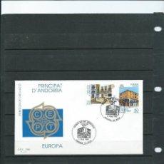 Sellos: SOBRE DE PRIMER DIA DE ANDORRA ESPAÑOLA DEL AÑO 1990 DEL TEMA DE EUROPA 90. Lote 197427067