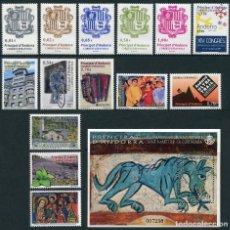Selos: SELLOS ANDORRA ESPAÑOLA AÑO 2014 COMPLETO. NUEVOS SIN FIJASELLOS (MNH). Lote 198343940
