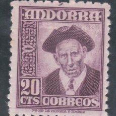 Sellos: ANDORRA ESPAÑOLA.- Nº 48 PERSONAJE DE ANDORRA CON HUELLA DE CHARNELA . . Lote 198634236