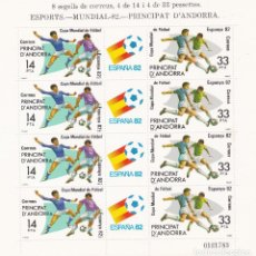 Sellos: ANDORRA ESPAÑOLA.- Nº 161 MINIPLIEGO MUNDIAL 82 NUEVO SIN CHARNELA. . Lote 198835803