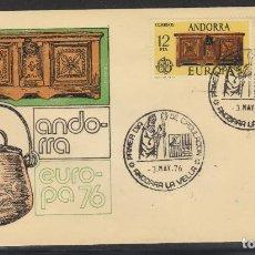 Sellos: ANDORRA ESPAÑOLA.- Nº 102/03 EUROPA 1976 EN SOBRE DE PRIMER DÍA. . Lote 198836067