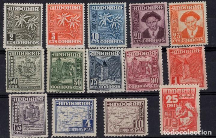 ANDORRA, 1948 - 1953 EDIFIL Nº 45 / 58 (Sellos - España - Dependencias Postales - Andorra Española)