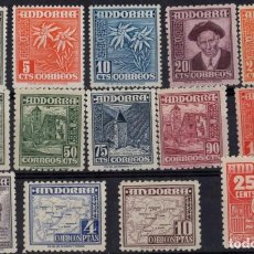 Sellos: ANDORRA, 1948 - 1953 EDIFIL Nº 45 / 58 . Lote 199321611