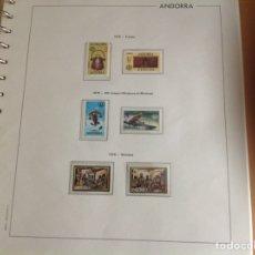 Sellos: 1976 SELLOS DE ANDORRA (CORREO ESPAÑOL) NUEVO. AÑO COMPLETO. Lote 202409065