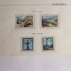 Sellos: 1977 SELLOS DE ANDORRA (CORREO ESPAÑOL) NUEVO. AÑO COMPLETO. Lote 202409483