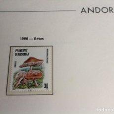 Sellos: 1986 SELLO DE ANDORRA. SETAS. Lote 202785080