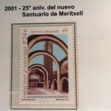 Sellos: 2001 SELLOS DE ANDORRA. SANTUARIO DE MERITXELL. Lote 202835227