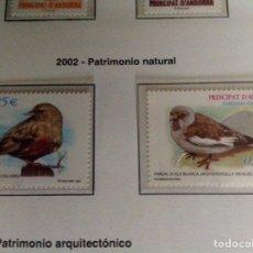 Sellos: 2002 SELLO DE ANDORRA. PATRIMONIO NATURAL. Lote 202835362
