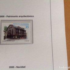 Sellos: 2000 SELLO DE ANDORRA. PATRIMONIO ARQUITECTÓNICO. Lote 202835432