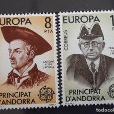 Selos: ANDORRA , EDIFIL 133-134 ** , 1980. Lote 203854642