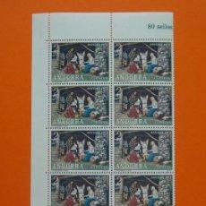Sellos: ANDORRA, EDIFIL 79, PESSEBRE VIVENT, COMPLETA, AÑO 1972, 1 BLOQUE DE 10 SELLOS, NUEVOS... L1000. Lote 204192746