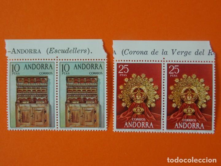 ANDORRA, EDIFIL 91/92, ARTESANIA, COMPLETA, 1974, 2 BLOQUES DE 2 SELLOS, NUEVOS... L1004 (Sellos - España - Dependencias Postales - Andorra Española)