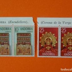 Sellos: ANDORRA, EDIFIL 91/92, ARTESANIA, COMPLETA, 1974, 2 BLOQUES DE 2 SELLOS, NUEVOS... L1004. Lote 204197917