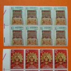 Sellos: ANDORRA, EDIFIL 91/92, ARTESANIA, COMPLETA, 1974, 2 BLOQUES DE 8 SELLOS, NUEVOS... L1005. Lote 204198036