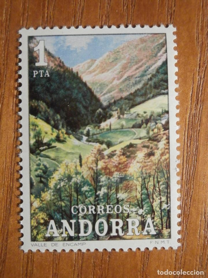 SELLO - ANDORRA CORREO ESPAÑOL - EDIFIL 73 - 1972 - 1 PTA - PAISAJES (Sellos - España - Dependencias Postales - Andorra Española)
