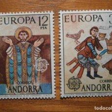 Sellos: SELLO - ANDORRA CORREO ESPAÑOL - EDIFIL 97, 98 - 1975 -- SERE PINTURAS IGLESIA ORDINO - NUEVOS. Lote 245228580