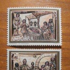 Sellos: SELLO - ANDORRA CORREO ESPAÑOL - EDIFIL 106, 107 - 1976 - SERIE NAVIDAD - NUEVOS. Lote 245228345