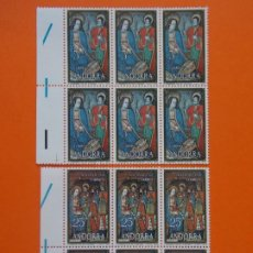 Sellos: ANDORRA, EDIFIL 120/21, NAVIDAD, 1978 - COMPLETA EN 2 BLOQUES DE 6 SELLOS, NUEVO.. L1036. Lote 204710125