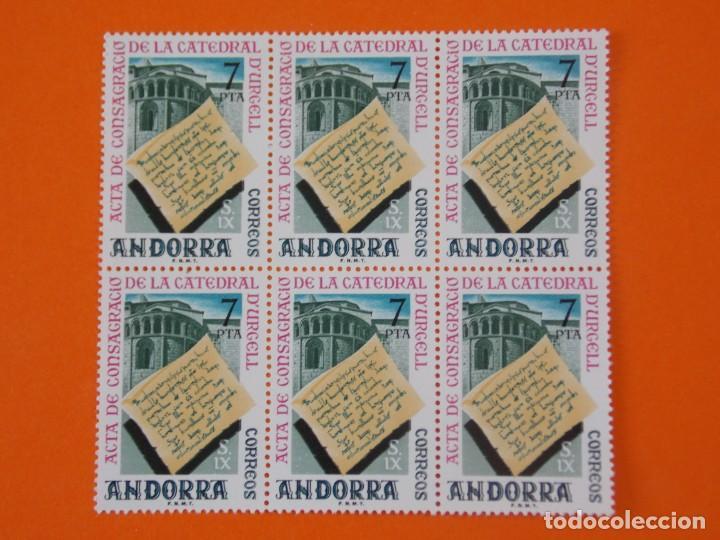 ANDORRA, EDIFIL 99, CATEDRAL URGELL, 1974 - COMPLETA EN 1 BLOQUE DE 6 SELLOS, NUEVO.. L1027 (Sellos - España - Dependencias Postales - Andorra Española)