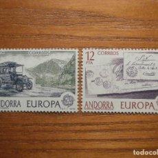 Sellos: ANDORRA CORREO ESPAÑOL - EDIFIL 125 Y 126 - 5 Y 12 PTA - 1979 - SERIE EUROPA - NUEVOS. Lote 245228255