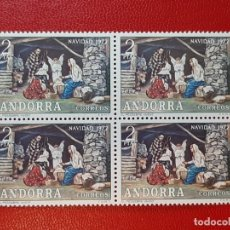 Sellos: SELLO ANDORRA ESPAÑOLA 1972 BLOQUE DE 4. Lote 205168557