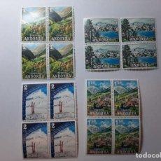 Sellos: SELLOS ANDORRA ESPAÑOLA 1972 BLOQUE DE 4 EDIFIL 73.74.75.Y 76. Lote 205194837