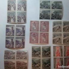 Sellos: SELLOS ANDORRA ESPAÑOLA 1963 BLOQUE DE 4 EDIFIL DEL 60 AL 67. Lote 205195167