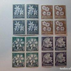 Sellos: SELLOS ANDORRA ESPAÑOLA 1966 BLOQUE DE 4 EDIFIL DEL 68 AL 71. Lote 205195527