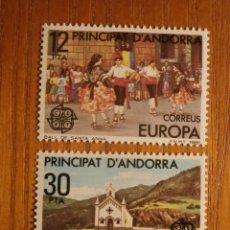 Sellos: ANDORRA CORREO ESPAÑOL - EDIFIL 140 Y 141 - 12 Y 30 PTA - 1981 - SERIE EUROPA - NUEVOS. Lote 245227580