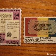 Sellos: ANDORRA CORREO ESPAÑOL - EDIFIL 157 Y 158 - 14 Y 33 PTA - 1982 - SERIE EUROPA - REFORMA - NUEVOS. Lote 206502582