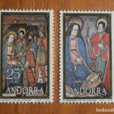 Sellos: SELLO - ANDORRA CORREO ESPAÑOL - EDIFIL 120 Y 121 - 5 Y 25 PTA - 1978 - SERIE NAVIDAD, NUEVOS. Lote 245227120