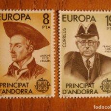 Sellos: ANDORRA CORREO ESPAÑOL - EDIFIL 133, 134 - 8 Y 19 PTA - 1980 - SERIE EUROPA, NUEVOS. Lote 245225895